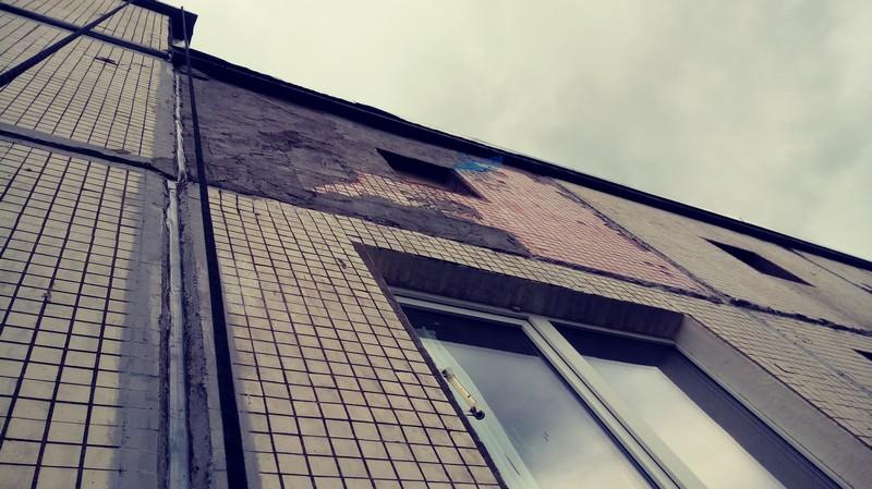 разрушение фасада фото