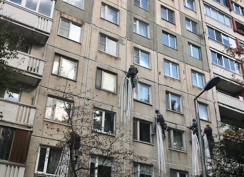 ремонт фасадов после протечек
