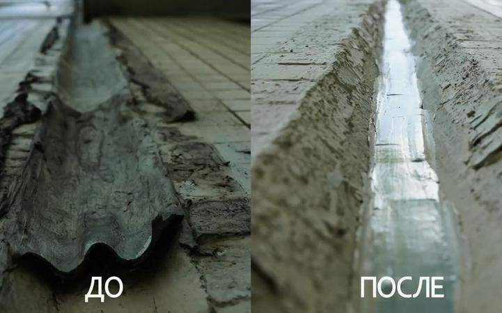 Гидроизоляция межпанельных швов до и после