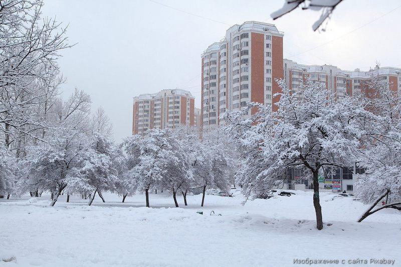 дом зима фото